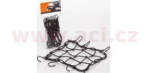 pružná zavazadlová síť pre motocykele rozměr 30 x 30 cm + 6 háčků
