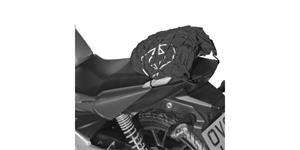 pružná zavazadlová síť XL pre motocykele OXFORD UK 38 x 38 cm čierna/Reflexný