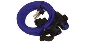 zámok na motocykel Cable Lock OXFORD UK modrý délka 1 8 m