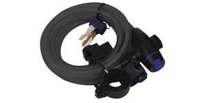 zámok na motocykel Cable Lock OXFORD UK kouřový délka 1 8 m