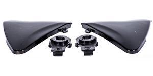 bočné kryty priezoru pre prilby Ventus MT čierne-lesklé