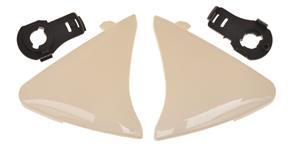 bočné kryty priezoru pre prilby Ventus MT biele