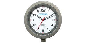 analogové hodiny OXFORD UK titanový rámeček luminiscenční ciferník