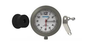 analogové hodiny OXFORD UK stříbrný rámeček luminiscenční ciferník