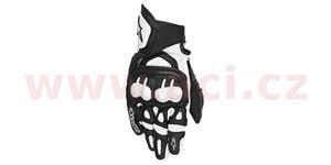 rukavice GPX ALPINESTARS čierne biele vel. S