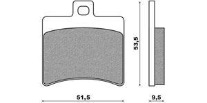 brzdové doštičky ACCOSSATO zmes ST sintered metal 2 ks v balení
