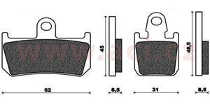 brzdové doštičky ACCOSSATO zmes EV1 racing 4 ks v balení