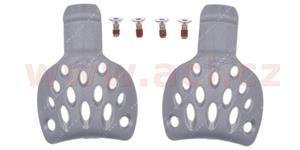 slidery paty pro boty SUPERTECH R, ALPINESTARS - Itálie (stříbrné, pár, vel. 39/41)