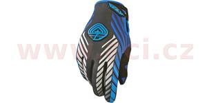 rukavice 907 MX NEOPREN, FLY RACING - USA (černá/modrá, vel. M)