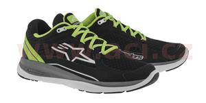 běžecké boty 100 RUNNING, ALPINESTARS - Itálie (černé/zelené, vel. 40)