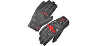 rukavice Tactical, AYRTON - ČR (černé/červené, vel. S)