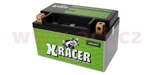 lithiová batéria 7 X-RACER 12V 20Ah 130A hmotnost 0.5kg 150x87x93