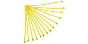 sťahovacie pásky 3 6x180 mm RTECH  žlté 100 ks