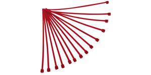 sťahovacie pásky 3 6x180 mm RTECH  červené 100 ks