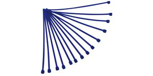 sťahovacie pásky 3 6x180 mm RTECH  modré 100 ks