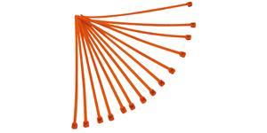 sťahovacie pásky 4 8x280 mm RTECH  oranžové 100 ks