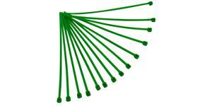 sťahovacie pásky 4 8x280 mm RTECH  zelené 100 ks