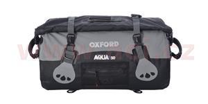 Vodotesný vak Aqua50 Roll Bag OXFORD UK čierny/šedý objem 50l