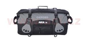 Vodotesný vak Aqua30 Roll Bag OXFORD UK čierny/šedý objem 30l