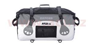 Vodotesný vak Aqua50 Roll Bag OXFORD UK biely/šedý objem 50l