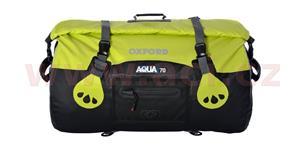 Vodotesný vak Aqua70 Roll Bag OXFORD UK čierny/fluo objem 70l