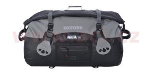 Vodotesný vak Aqua70 Roll Bag OXFORD UK čierny/šedý objem 70l