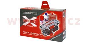 KETTENMAX PREMIUM - pračka na motocykelové reťaz e kompletný sada vr. čističe a konzervantu reťazí Rakousko