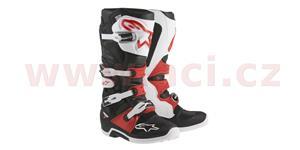 boty Tech 7, ALPINESTARS - Itálie (bílé/červené/černé, vel. 45,5)