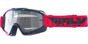 brýle Zone RS, FLY RACING - USA, dětské (černé/červené, čiré plexi s čepy pro slídy)