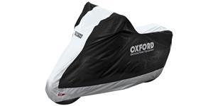 plachta na motorku Aquatex OXFORD čierna strieborná vel. M