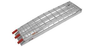 nájazdová rampa MX hliníková skládací úzká QTECH 1 ks strieborná