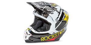prilba F2 Rockstar FLY RACING USA čierna biela žltá červená vel. XL