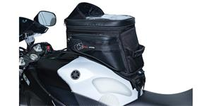 tankvak na motocykel S20R Adventure s popruhy OXFORD UK čierny objem 20l
