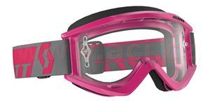 okuliare RECOIL XI WORKS SCOTT rúžové čiré plexi s čepy pre slídy