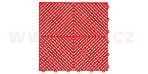 plastová dlaždice žebrovaná 40x40x1 8 cm PVC červená