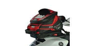 tankvak na motocykel Q4R QR OXFORD UK čierny/červený s rychloupínacím systémem na viečka nádrže objem 4l