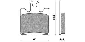 brzdové destičky (směs SCOOTER ELITE SINTERED) NEWFREN - Itálie (2 ks v balení)