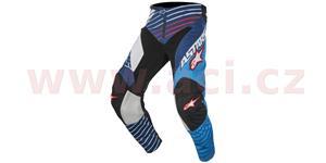 kalhoty Racer Braap 2017, ALPINESTARS - Itálie (modré/bílé/tmavě modré/červené, vel. 32)