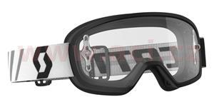 brýle BUZZ MX, SCOTT - USA , dětské (černé, čiré plexi s čepy na slídy)