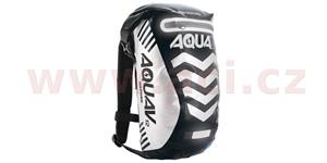 Vodotesný batoh Aqua V12 Extreme Visibility OXFORD UK čierna/Reflexný prvky objem 12l