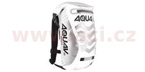 Vodotesný batoh Aqua V12 Extreme Visibility OXFORD UK biela/šedá/Reflexný prvky objem 12l