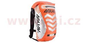 Vodotesný batoh Aqua V12 Extreme Visibility OXFORD UK oranžová fluo/Reflexný prvky objem 12l
