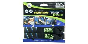 popruhy ROK straps HD nastavitelné a zesílené OXFORD UK čierna/modrá/zelená šířka 25mm pár