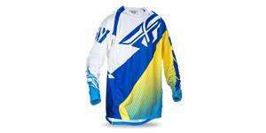 dres EVO 2017 FLY RACING USA modrá žltá biela vel. XL