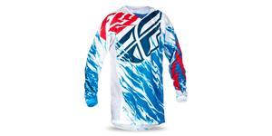 dres Kinetic RELAPSE 2017 FLY RACING USA červená biela modrá vel. M