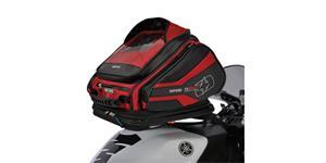 tankvak na motocykel Q30R QR OXFORD UK čierny/červený s rychloupínacím systémem na viečka nádrže objem 30l