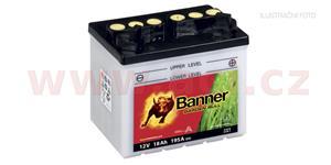 baterie 12V, U1R-7, 18Ah, 195A, pravá, BANNER GARDEN BULL 196x131x183