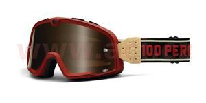 custom brýle Barstow Classic, 100% - USA (červená , hnědé plexi)