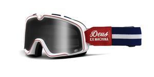 custom okuliare Barstow Classic Deus EX Machina 100% biela/červená kouřové plexi
