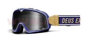 custom okuliare Barstow Classic Deus EX Machina 100% modrá/biela kouřové plexi